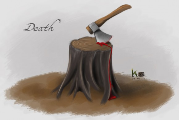 Death (Painting, Photoshop)