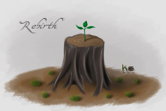 Rebirth (Painting, Photoshop)